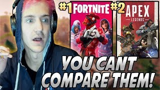 Ninja Explains Why He Likes Fortnite MORE Than Apex Legends & Why You CAN'T Compare Them!