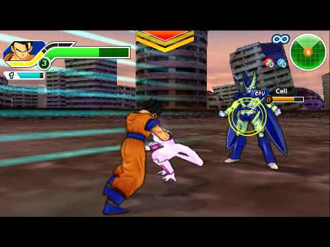 Dragon Ball Z Tenkaichi Tag Team - Ultimate Gohan Vs. Frieza And Cell video