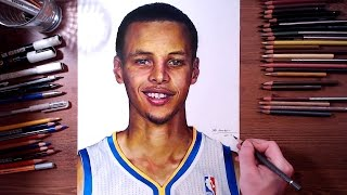 Stephen Curry - Colored pencil drawing | drawholic