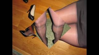 My legs in nylons and pantyhose