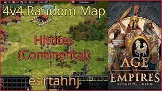 Age of Empires: Definitive Edition - 4v4 RM Hittites Continental - eartahhj - 08/07/2019