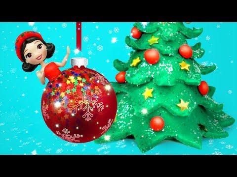 Новогодние платья принцесс из пластилина. Игрушкин ТВ