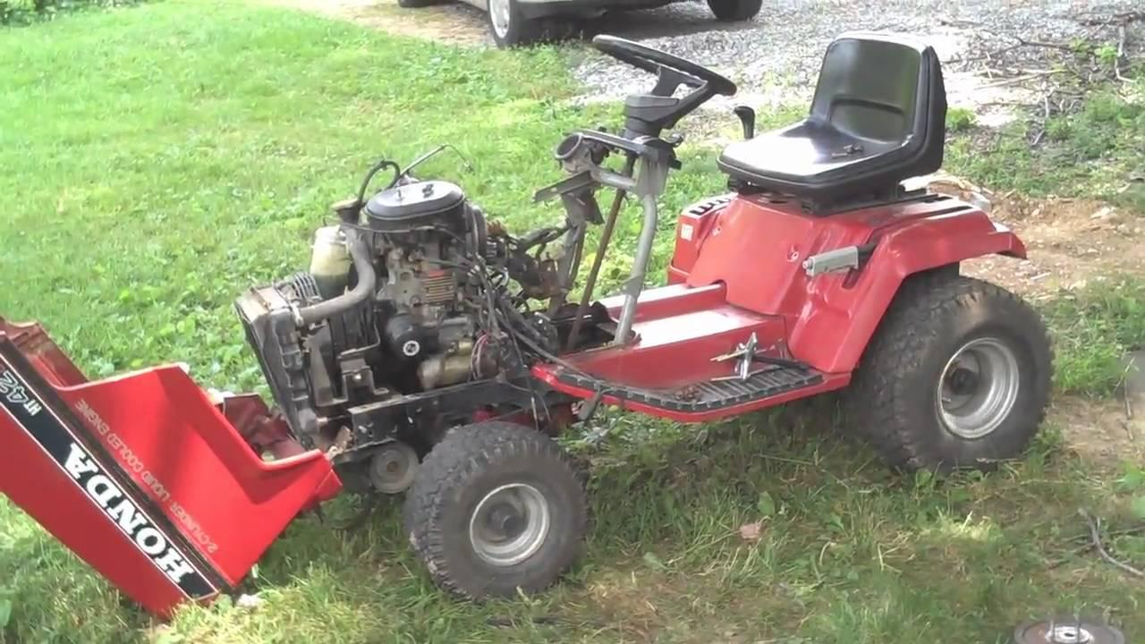 Honda HT4213 Tractor -Timing Belt - YouTube