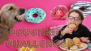 FUN! Doughnut Challenges - 2 Dogs vs Me (Charlotte Sparkle) SUPER FUN!