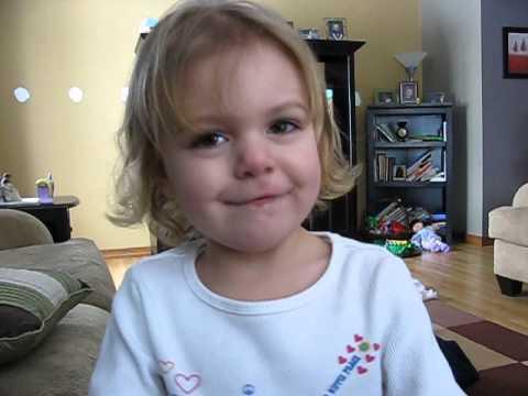 Little girl tries to sing Baa Baa Black Sheep