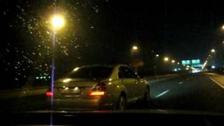 Infiniti G35x vs MB S500 (W221) roll on from 40 km\h