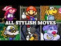 Paper Mario: The Thousand-Year Door - All Stylish Moves