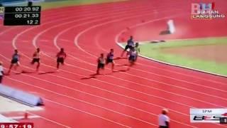 Khairul Hafiz Jantan memenangi acara 200m final SUKMA