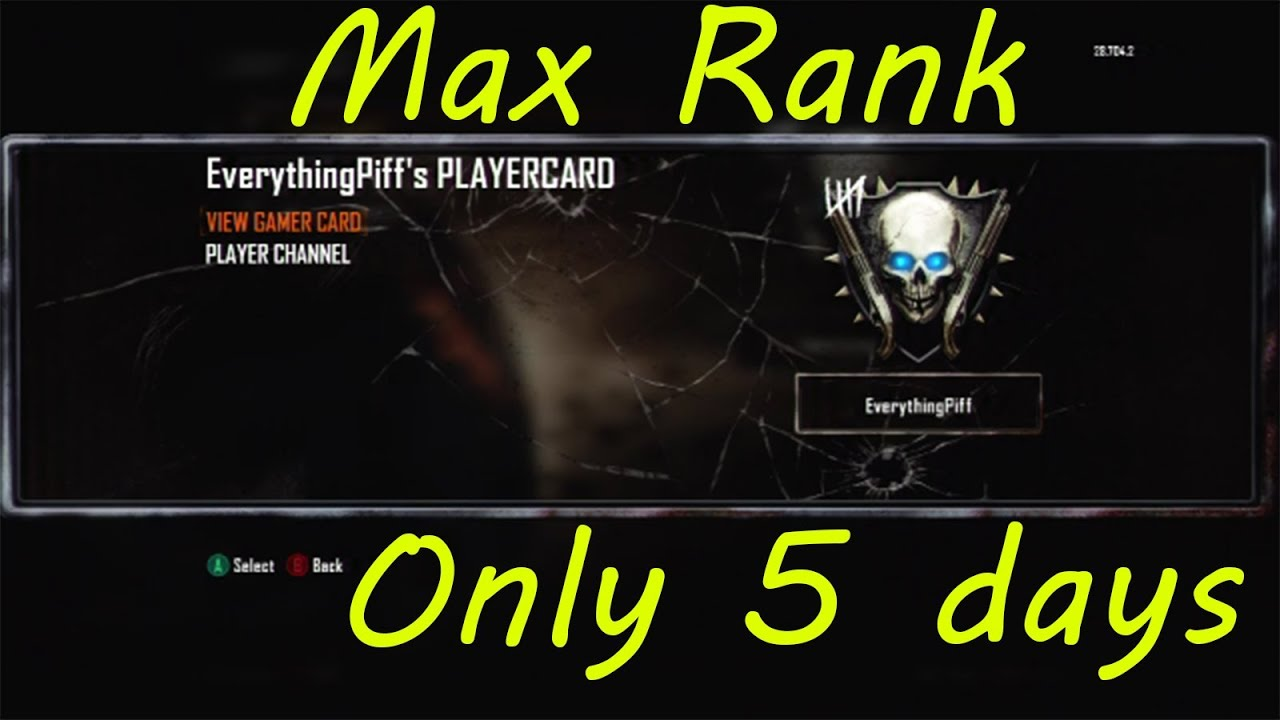Black Ops Skull Black Ops 2 Zombies l Ranking