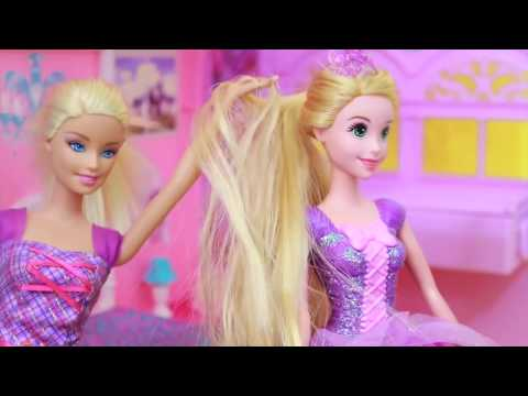 AllToyCollector Nice BARBIE Disney Tangled Princess Rapunzel Barbie Dreamhouse Barbie Hair Stylist