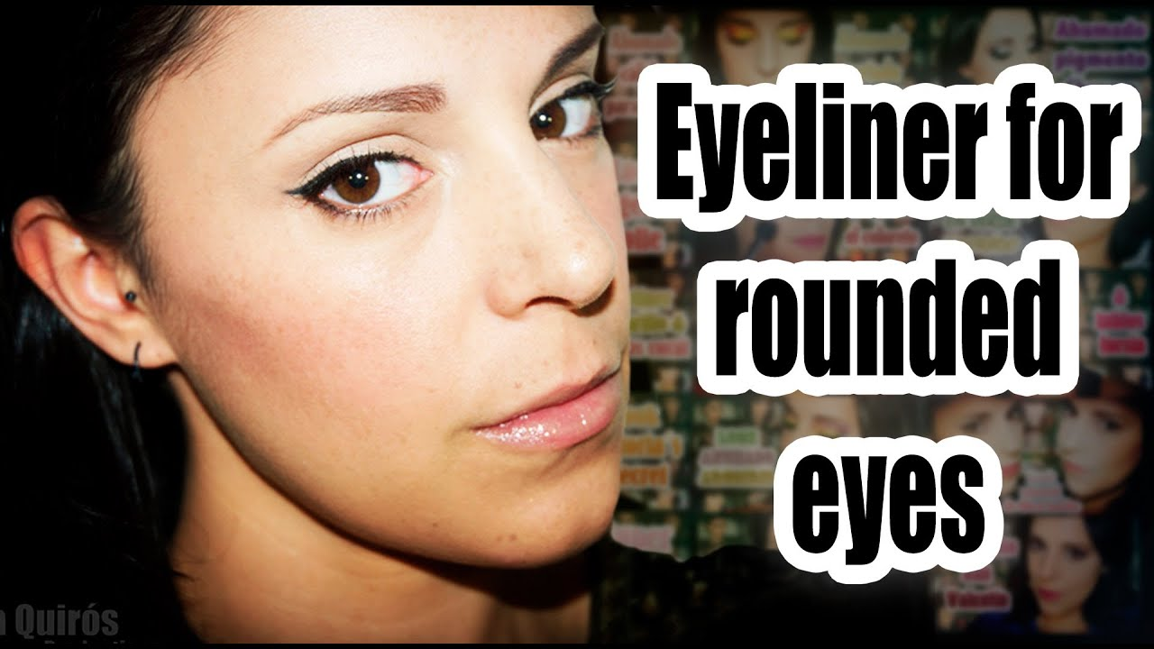 Round eyes eyeliner make-up