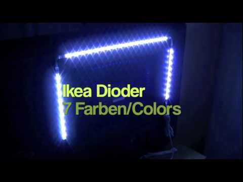 ikea dioder led 7 farben colors how to save money and do it yourself. Black Bedroom Furniture Sets. Home Design Ideas