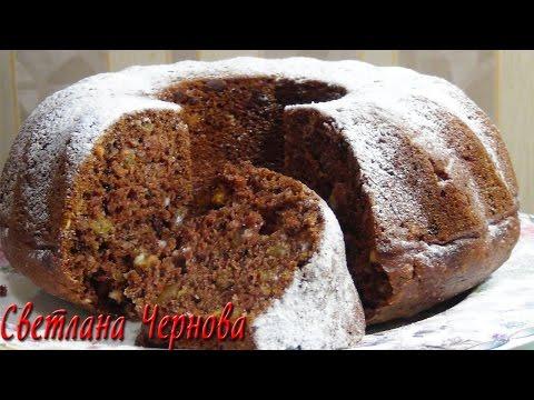 Коврижка -пышная и мягкая (постная )'Vegetarian Chocolate Cake''