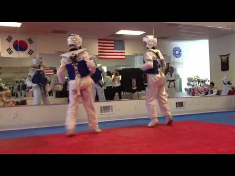 Jordan sparring for belt testing 5/18/13