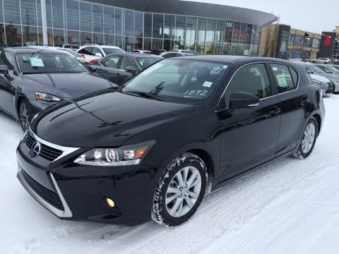 new black 2015 lexus ct 200h fwd hybrid walk through review south edmonton youtube. Black Bedroom Furniture Sets. Home Design Ideas