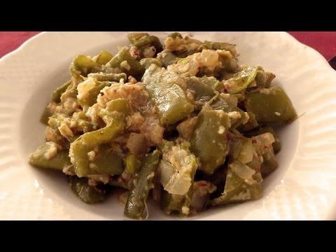 Рецепт зелёной фасоли с яйцом