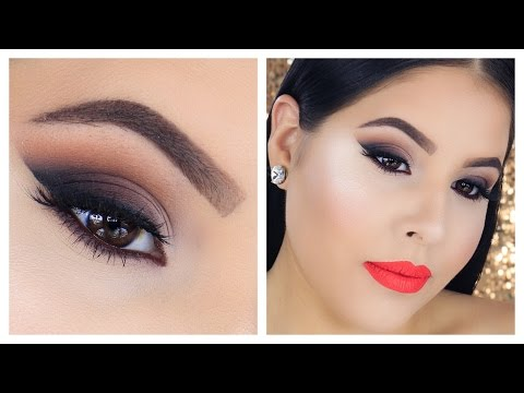 Last Minute Thanksgiving Makeup Tutorial | Smokey Wing | Nelly Toledo