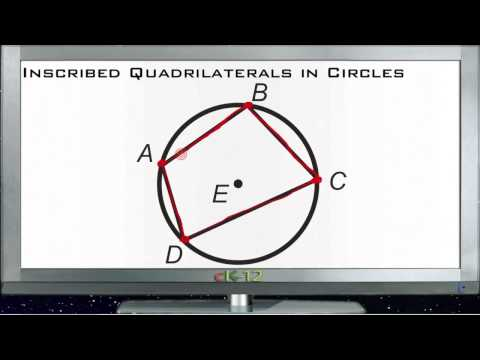 Inscribed Quadrilaterals in Circles Principles - Basic