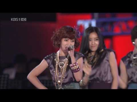 T-ara + Cho Shin Sung - Time To Love [live 2009.11.15] Kbs video