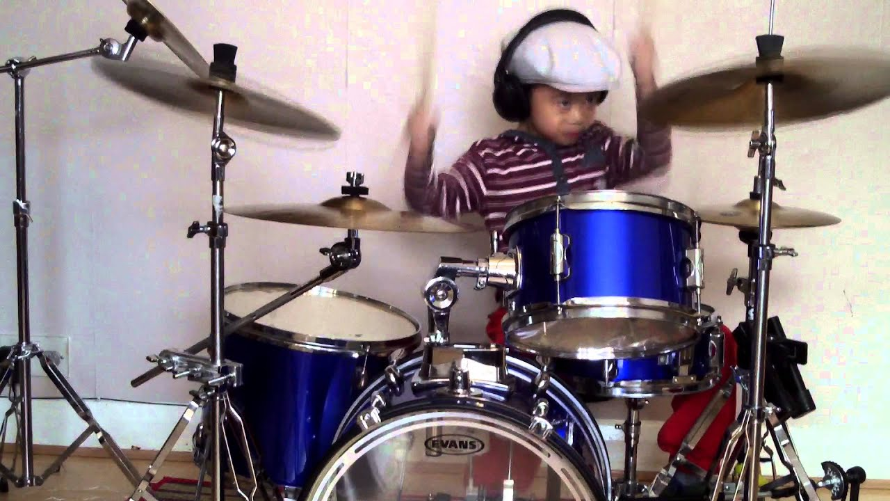 Metallica - Enter Sandman drum cover, 5-Year-Old Drummer - YouTube