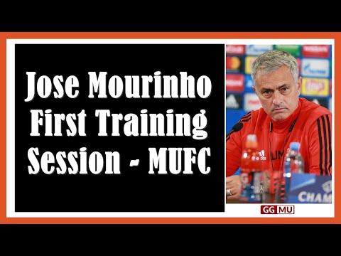 Jose Mourinho First Training Session - MUFC