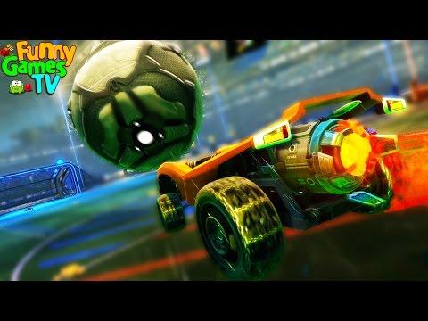 Мультик машинки играют в футбол игра Rocket League видео для детей и взрослых битва тачек