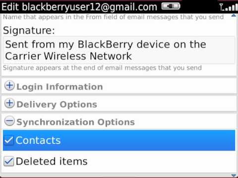 Synchronize Google Mail contacts with your BlackBerry smartphone