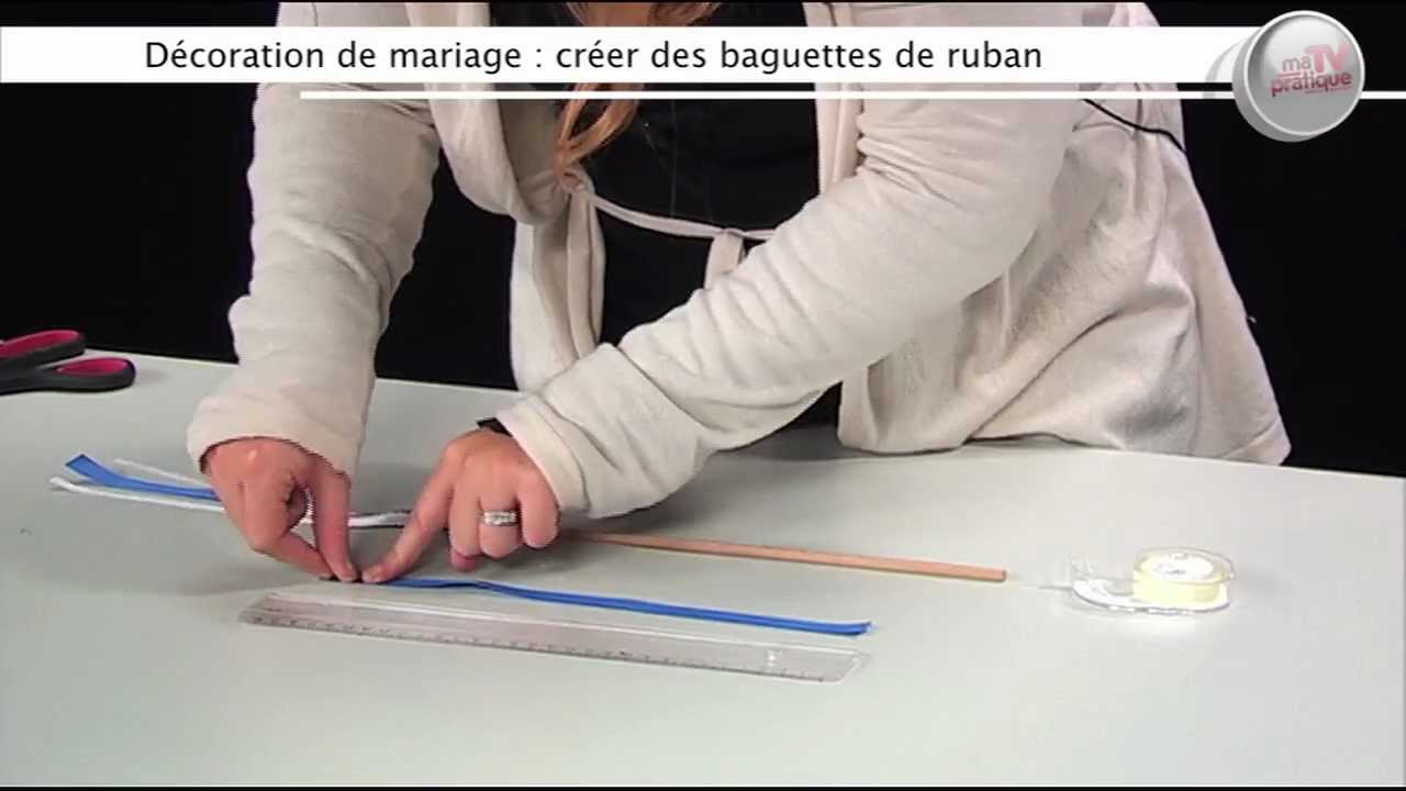 d co faire des baguettes rubans pour un mariage youtube. Black Bedroom Furniture Sets. Home Design Ideas