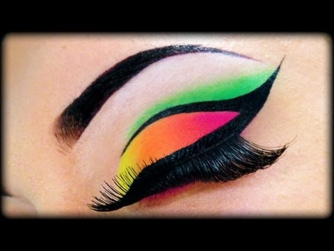 Neon Make Up Tutorial using Sleek MakeUp & Essence ft Kosmetik4Less