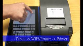 Android tablet connect to Receipt Printer_STAR TSP700II Thermal Printer