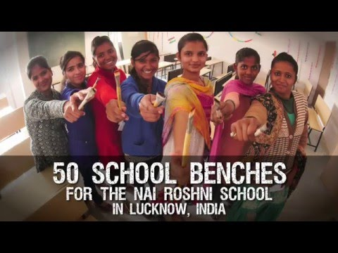 SCHOOL BENCHES for SLUM GIRLS • CAN-Xmas • THANK YOU !!!
