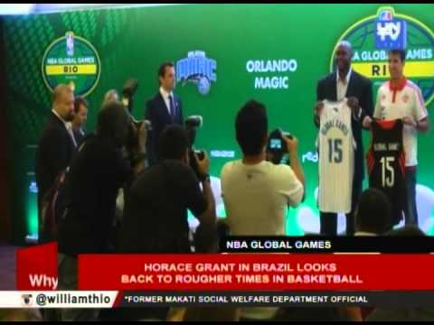 Horace Grant in Brazil looks back to rougher times in basketball