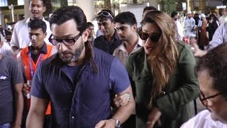 Kareena Kapoor & Saif Ali Khan MOBBED at Mumbai Airport | FULL VIDEO