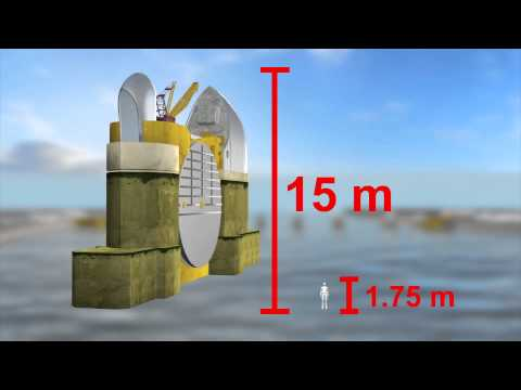 How does the Thames barrier protects London from floodings