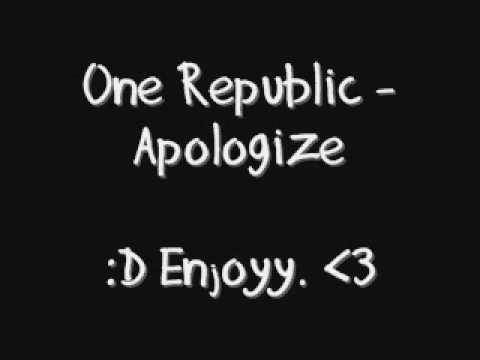 Timbaland Feat. OneRepublic - Apologize Lyrics | Musixmatch