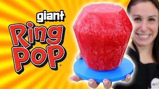 DIY GIANT RING POP (not watermelon 🍉)
