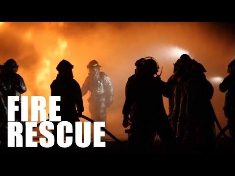 Inside Marine Aircraft Fire Rescue Training