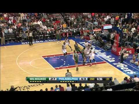 [March 27, 2013] Ersan Ilyasova - 13 Points, 18 Rebounds Full Highlights vs Philadelphia 76ers