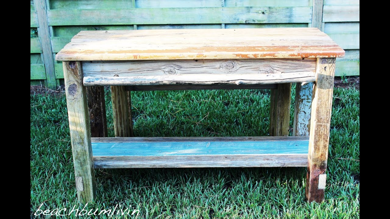 ... Kitchen Island and Bench using Driftwood: Rustic Woodworking - YouTube