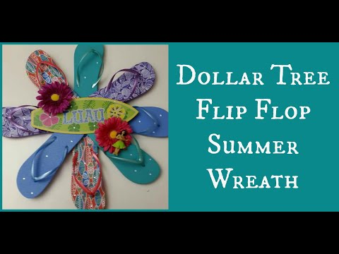 Dollar Tree Flip Flop Summer Wreath