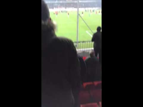Manchester United fans singing We're Fucking Shit!!