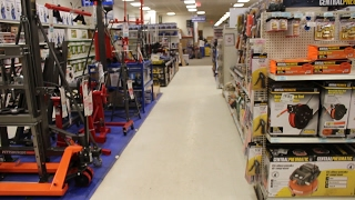 HARBOR FREIGHT TOOLS STORE TOUR - Garage Vlog Racers Creed