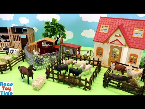 Toy Farm Animals For Kids - Learn Animal Names thumbnail