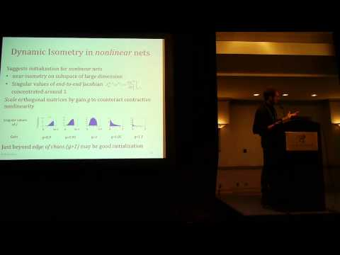 Iclr14: A Saxe: Exact Solutions To The Nonlinear Dynamics Of Learning... video