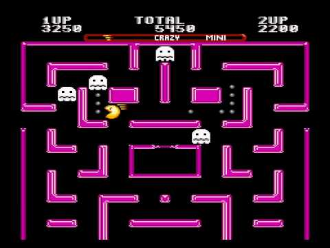 Ms. Pac-Man 2 player Sega Genesis mini maze crazy difficulty 60fps