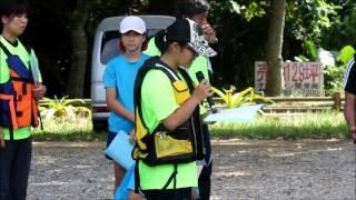 宮良小学校の川下りで感謝の言葉を述べる六年生代表