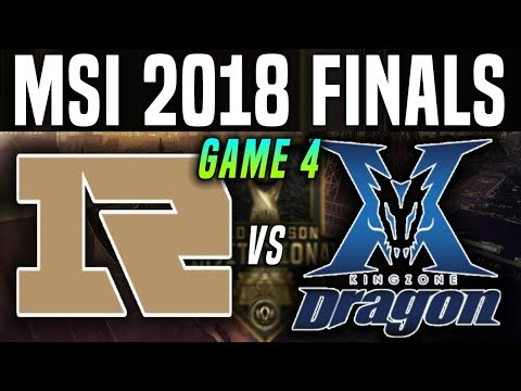 RNG vs KZ Game 4 - MSI 2018 Final - Royal Never Give Up vs Kingzone DragonX | League Of Legends MSI