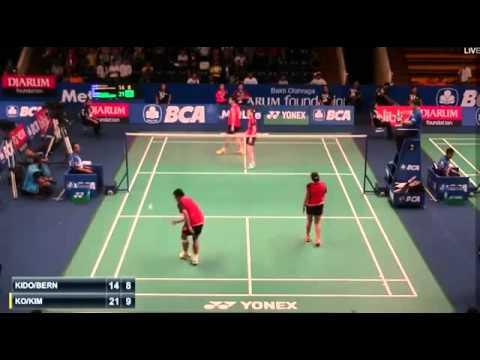 2015 BCA Indonesia Open R32 [XD] KO Sung Hyun-KIM Ha Na vs Markis KIDO-Pia Zebadiah BERNADETH