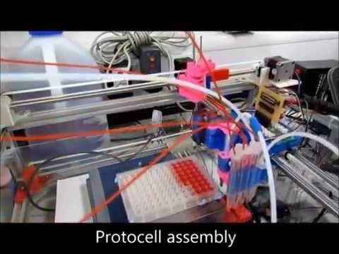 3D-printed robot 'evolving' synthetic cells