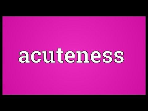 Header of Acuteness